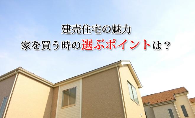 建売住宅の魅力。家を買う時の選ぶポイント